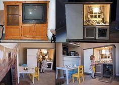 Little kitchen from entertainment center...