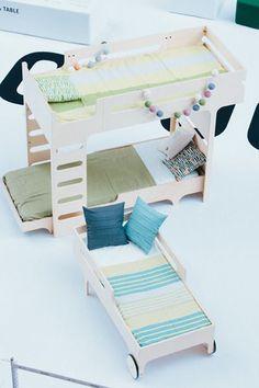 F BUNK BED - A TEEN BED - R TOODLER BED designer:RAFA - KIDS at exhibition in Tokyo , by Actus & Milk Japon