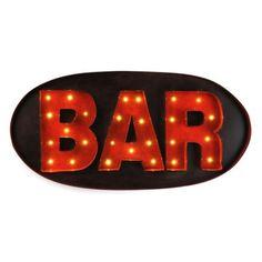 Metal Bar LED Plaque #kirklands #creativekitchen