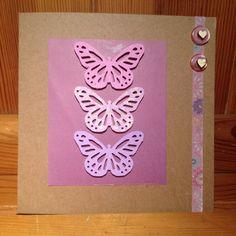 Pretty handmade butterflies & buttons card