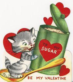 Kitty Love...Vintage Valentine