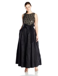 Eliza J Women's Plus-Size Ball Gown with Sash At Waist -- Special product just for you. Eliza J Dresses, Plus Size Dresses, Dresses For Sale, Evening Gowns On Sale, Club Cocktail Dresses, This Is A Book, African Print Fashion, Women's Fashion Dresses, Plus Size Fashion