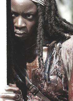 Michonne....probably my favorite strong female character ever on TV....she's beyond awesome