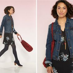 Inspiration Gallery | Stitch Fix Style.  Love the dress and I have a great denim jacket!
