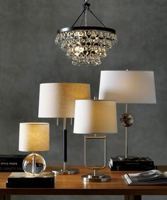 Shop Sybil Globe Crystal Table Lamp, Set of An orb of clear crystal adds a light, cheerful accent to a side table or nightstand. When lit, the lamp takes on a warm glow, illuminating the flecks of linen that stud the soft beige shade. Wall Fixtures, Ceiling Light Fixtures, Ceiling Lights, Ceiling Fans, Home Lighting, Pendant Lighting, Bronze Chandelier, Lamp Sets, Unique Furniture