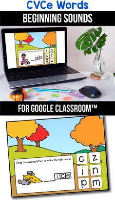 Looking for ideas for the google classroom for your kindergarten, first grade or special education kids? These activities are perfect for teachers to use in the classroom or for parents to use for homeschool. These CVCe word activities for beginners replace old and outdated worksheets. You can use them while distance learning to make learning CVCe words with pictures, long a, i, o and u easier. #googleclassroom #cvcewords #digitallearning #distancelearning #beginningsound