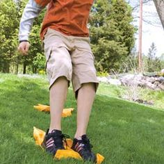 Stepping Stones - Use 2 shirts or dish towels to move from one point to another while racing your friends.  If you fall off, go back to start.