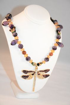 Purple Dragonfly Necklace. Dragonfly.Dragonfly Pendant.Dragonfly Necklace.Dragonfly Jewelry.Women's Jewelry.Women's Necklace. Purple jewelry by flashinfashinjewelry. Explore more products on http://flashinfashinjewelry.etsy.com
