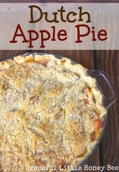This Dutch Apple Pie has a delicious crumb topping that makes it better than the classic version! Pie Crust Uses, Easy Pie Crust, Pie Crust Recipes, Apple Pie Recipes, Apple Desserts, Dessert Recipes, Amish Recipes, Dessert Ideas, Grandma's Recipes