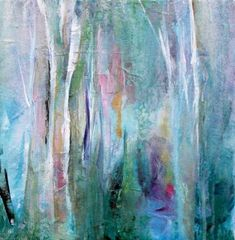 Fanciful Forest by Karen Hale (Acrylic Painting) Abstract Watercolor, Abstract Landscape, Abstract Art, Forest Painting, Artist Painting, Forest Art, Acrylic Artwork, Acrylic Painting Canvas, Small Paintings