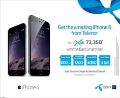 Telenor iPhone 6 Discount offer