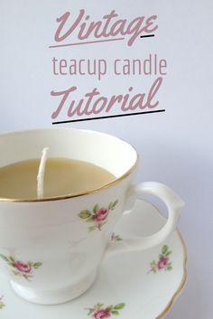 DIY Teacup Candles - Crafts on Sea