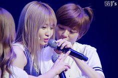 The stare of Yoonie to Moguri