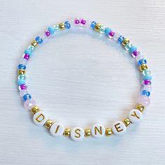 WDW 50th Anniversary Disney Individual Beaded Bracelet | Etsy Stack Bracelets, Stackable Bracelets, Stretch Bracelets, Beaded Bracelets, Faceted Crystal, Disney Inspired, 50th Anniversary, Gold Beads, Bracelet Set