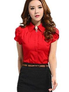 Womens Summer Blouse Slim Fit Shirt Work Wear Office Tops (S ( US  XS), Red) ACEFAST INC http://www.amazon.com/dp/B00N71NNC6/ref=cm_sw_r_pi_dp_wXxmvb0AJ1561