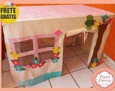 Toalha de mesa vira Casinha