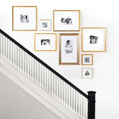 Stair Wall Decor, Staircase Decor, Stairway Gallery Wall, Stairway Decorating, Gallery Wall Design, Decorating Stairway Walls, Diy Gallery Wall, Stair Gallery, Wall Design
