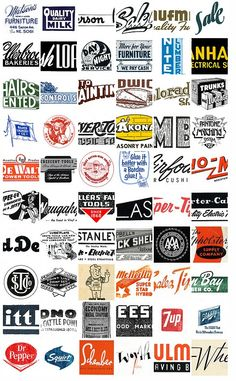 Some great snapshots from the past of logotypes at work