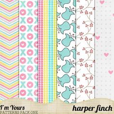 Free I'm Yours Pattern Paper from Harper Finch