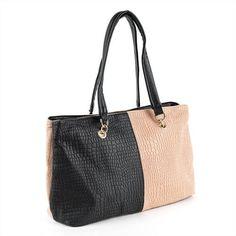 Minerva Collection Twin Compartment Mock Croc Shoulder Handbag Black & Pink Minerva Collection, http://www.amazon.co.uk/dp/B009Y8WSXQ/ref=cm_sw_r_pi_dp_PKlUqb0FQ346Z