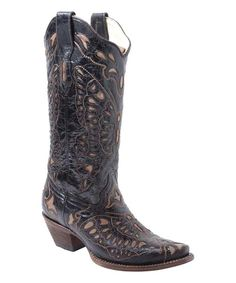 Look at this Corral Boots Tan Butterfly Leather Western Boot - Women on #zulily today!