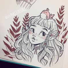 I'll have more tagged photo drawings tomorrow my dears! Work got unexpectedly busy this week so I had to shuffle my schedule around! Love Drawings, Drawing Sketches, Art Drawings, Pretty Art, Cute Art, Character Drawing, Character Design, Illustrations, Illustration Art