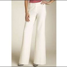 Elegant winter white trousers; by Trina Turk! Lovely classic trousers; in a white stretch fabric, by Trina Turk. Worn once, no signs of wear. A real steal! Trina Turk Pants Trousers