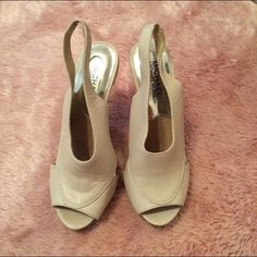 Michael Kors leather heels Slingback heels. Brand new! Will ship without box. Michael Kors Shoes Heels