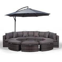Garden Sofa Sets You'll Love | Wayfair.co.uk Outdoor Lounge, Lounge Seating, Rattan Corner Sofa Set, Rattan Sofa, Garden Sofa Set, 5 Seater Sofa, Outdoor Furniture Sets, Design, Komfort