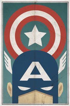 Resultado de imagem para Cartazes vintage da Dc Comics por Michael Myers captain america