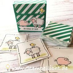Stempellicht: Memory - Spiel für Kinder ganz einfach selbst gema...