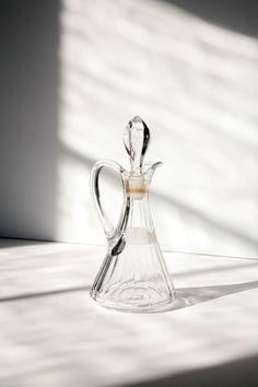 Vintage Decanter Glass Bottle 1960's Crystal by PomegranateVintage, $10.00