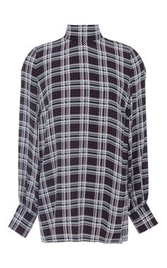 Allen Red Plaid Silk Blouse by Mother of Pearl Now Available on Moda Operandi