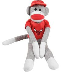 "Chicago Bulls 20"" Uniform Sock Monkey"