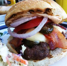 Jalapeno thousand island elk/venison burgers