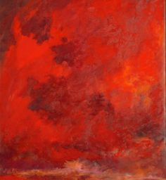 Red Sky | From a unique collection of paintings at http://www.1stdibs.com/art/paintings/