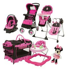 8 Pc Set Minnie Mouse Baby Girl High Chair Swing Doll Car Seat Bouncer Pack Play - Baby Car Seats Newborn -Ideas of Baby Car Seats Newborn - 8 Pc Set Minnie Mouse Baby Girl High Chair Swing Doll Car Seat Bouncer Pack Play Minnie Mouse Nursery, Baby Doll Nursery, Baby Mouse, Minnie Mouse Baby Stuff, Baby Doll Car Seat, Car Seat And Stroller, Baby Car Seats, Disney Babys, Baby Disney