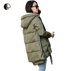 Winter Coats And Jackets Woman 2016 Down Casual Winter Jacket Plus Size M-XXXL…
