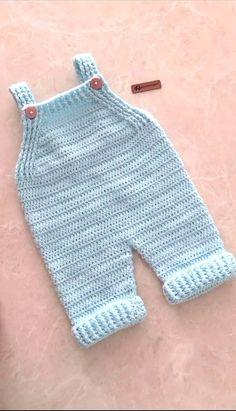 Crochet Baby Pants, Crochet Romper, Crochet Toddler, Crochet For Boys, Newborn Crochet, Cute Crochet, Crochet Clothes, Knitted Baby Romper, Baby Romper Pattern
