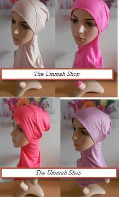 Ninja Underscarf cotton neck cover sport hijab one peice muslim bonnet cap islam Sports Hijab, Hijab Caps, Bonnet Cap, Modest Dresses Casual, Hijab Tutorial, Beautiful Hijab, Muslim Women, Kid Styles, Beanies