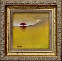 Flamboyant At The Edge of Waterfall. Minimalist Painting, Waterfall, Original Paintings, Fine Art, Landscape, The Originals, Canvas, Handmade, Oil