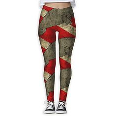 523c52cbbcbc5 Reflex Manatee Diver Flag Women's Stretchable Sports Running Yoga Workout  Leggings Pants