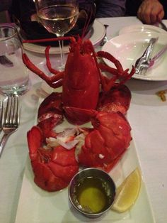 Lobster by the pound, served steamed or stuffed.