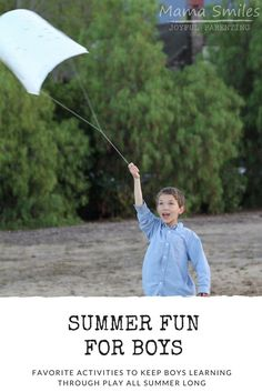 Boy-approved screen-free summer fun for kids. Of course, girls will enjoy these activities as well!