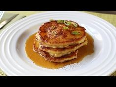 ▶ Mancakes - Bacon, Green Onion, & Cheddar Corn Pancakes Recipe - Father's Day Brunch - YouTube