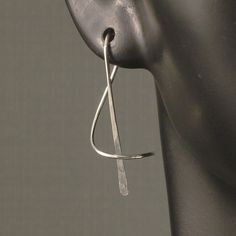 Sterling Silver Earrings A Wisp of Silver Artisan by MetalRocks. I love the lines of this simple earring.