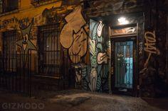 Tour a Secret Art Show Inside a Condemned NYC Apartment Building Entrance.