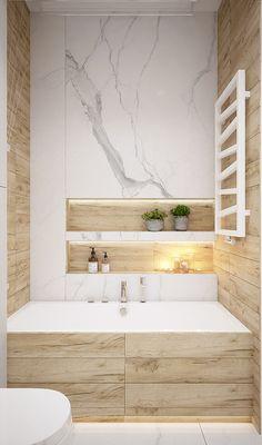 Modern and warm apartment in Katowice Poland - Dezign Ark (Beta) Bathroom Niche, Fitted Bathroom, Bathroom Renos, Bathroom Renovations, Bathroom Furniture, Small Bathroom, Bathroom Design Luxury, Modern Bathroom Design, Home Room Design