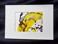Bilderrahmen - abstraktes, Acrylbild, gelb, 12 x 17, 21 x 31 - ein Designerstück von Atelier-Melanie-Landgraf bei DaWanda, Weihnachtsgeschenk, Kunst kaufen