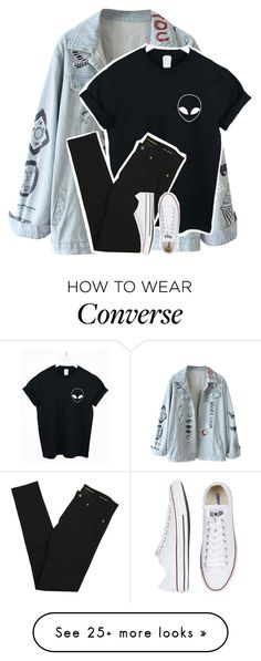 """""""sorry for my bluntness, that's just how i roll"""" by graciegirl2015 on Polyvore featuring Yves Saint Laurent and Converse"""